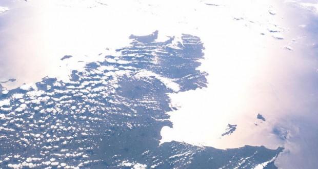 Bretagne vue de l'espace