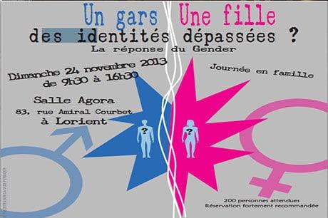 Dimanche 24 novembre : un colloque sur le gender, à Lorient