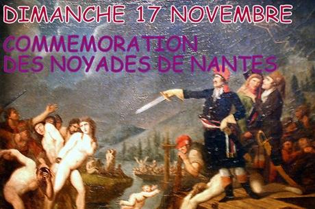 Nantes, le dimanche 17 novembre : commémoration des noyades révolutionnaires