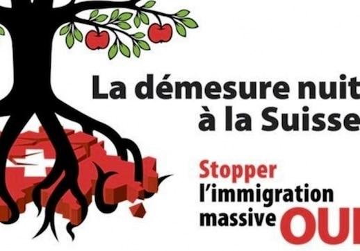 La Suisse vote contre l'immigration de masse