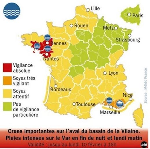 Inondations : la Bretagne en première ligne