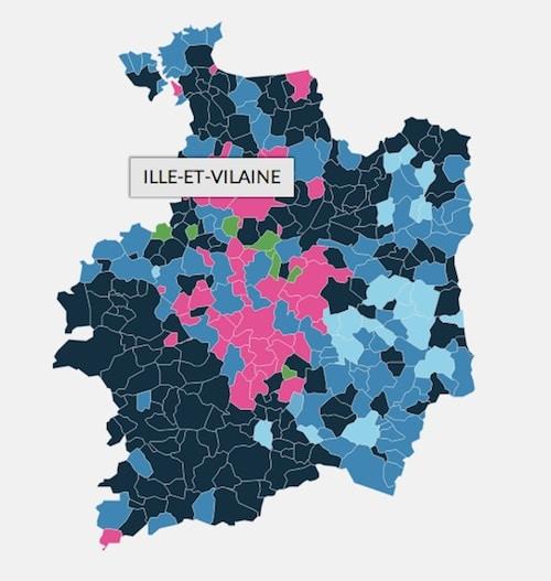 Le FN en tête dans 300 communes d'Ille et Vilaine et de Loire-Atlantique