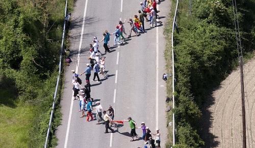 Une chaîne humaine pour l'autodétermination du Pays Basque