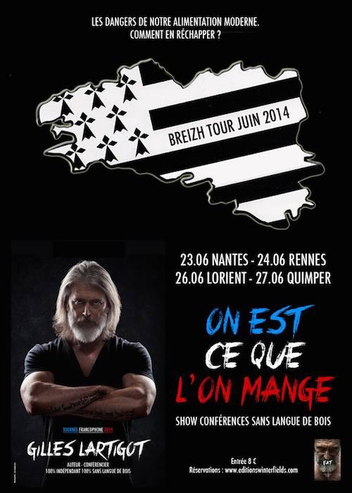 Gilles Lartigot en conférence à Rennes, Lorient et Quimper