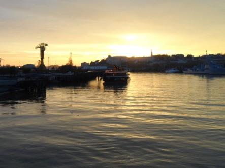 Coucher de soleil sur le Nantilus au mois de novembre