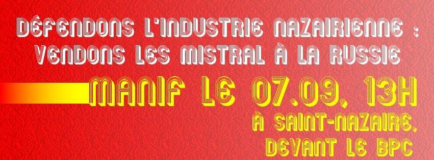 St-Nazaire. Des Bretons, dimanche, pour le Mistral et la Russie