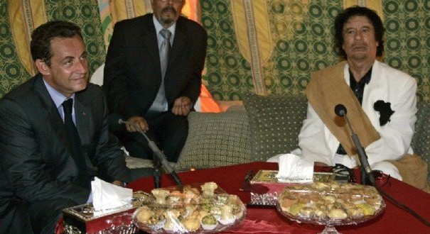 Sarkozy-Kadhafi-