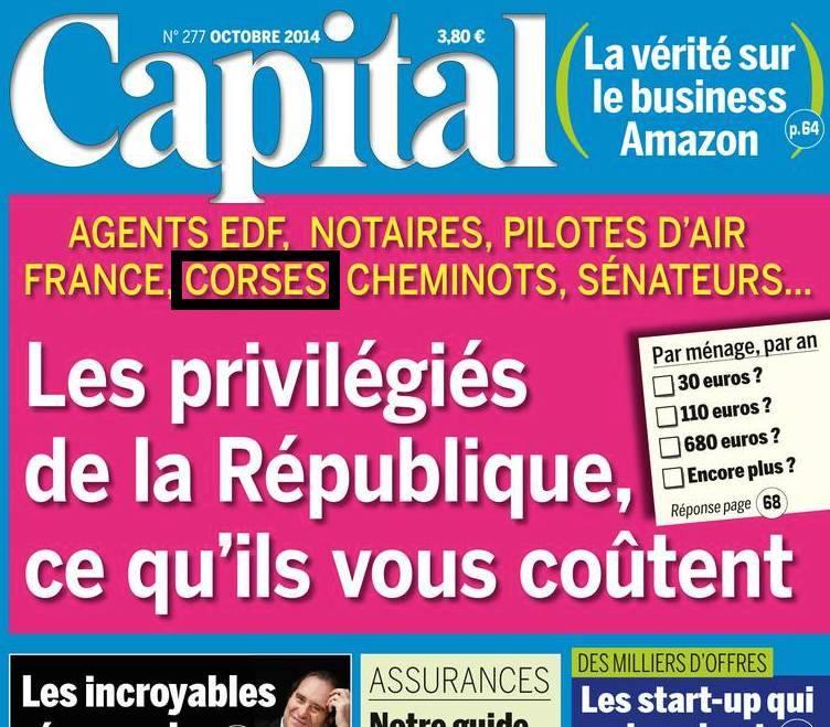 Le magazine Capital coupable de racisme anti Corses ?