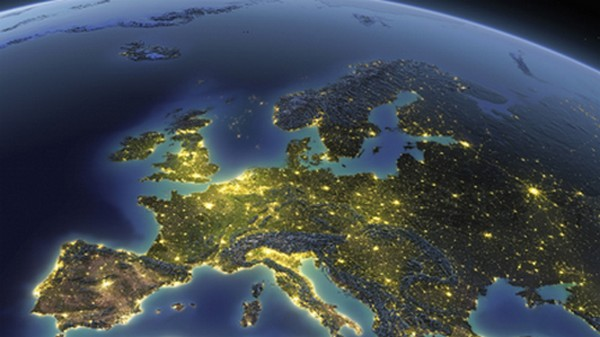Earth at night Europe