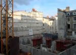 Un chantier hors normes au milieu d'un bâti existant très dense