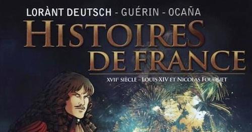 L'arrestation de Fouquet à Nantes, par Lorànt Deutsch (bande dessinée).