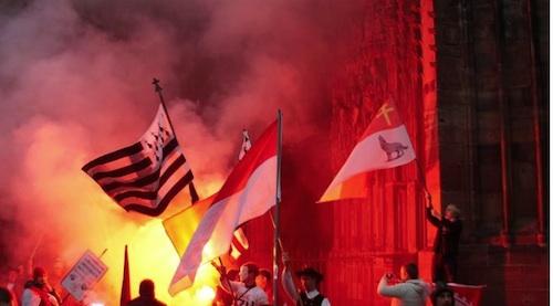 Colmar. Bretons et Alsaciens unis pour défendre leurs régions