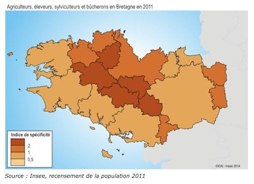 L'évolution des métiers et de leur proportion en Bretagne (B4)