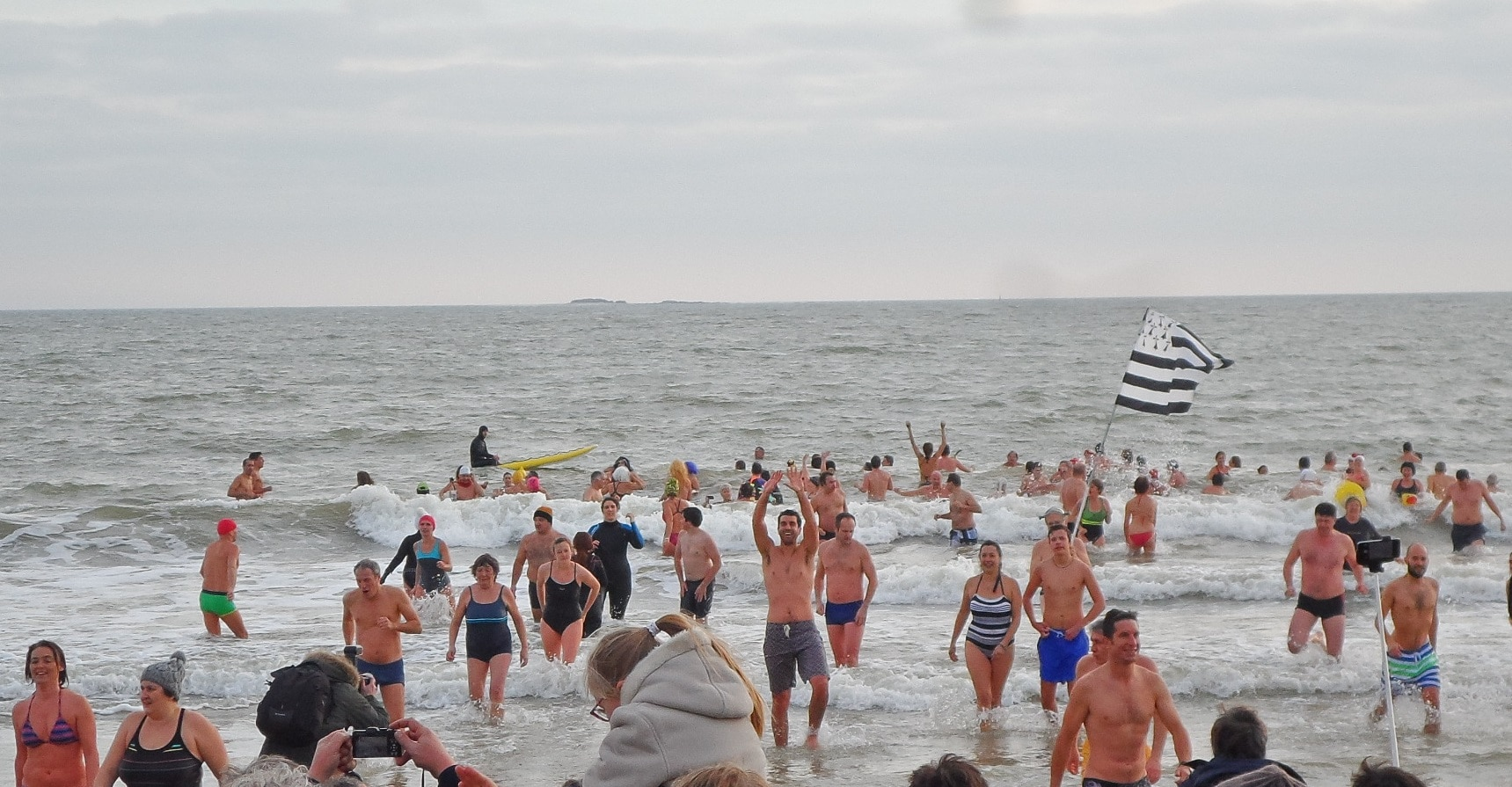 Bains du Nouvel an : tradition respectée en 2015