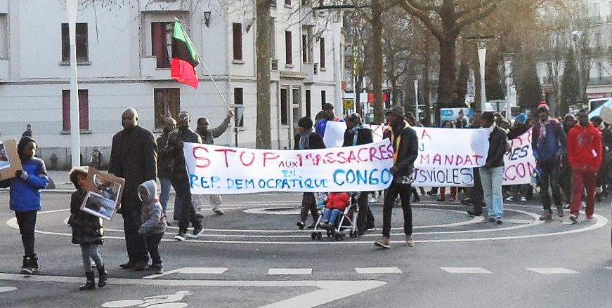 Des Congolais manifestent en Bretagne
