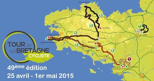 Le parcours de la 49ème édition du Tour de Bretagne cyclisme ... - Breizh Info