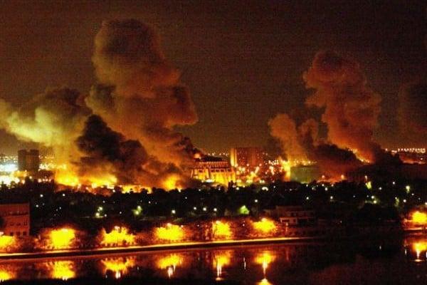 2003 - Bombardement  US sur Bagdad