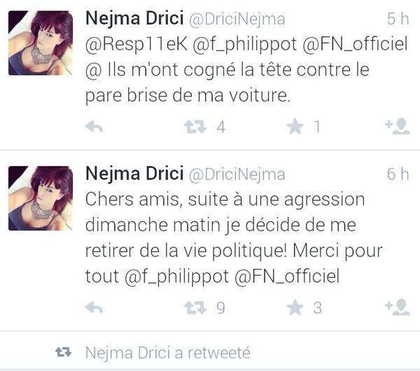La candidate FN du 1° canton de NANTES agressée?