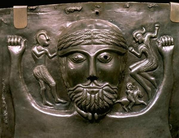 Art celte : détail du chaudron de Gundestrup.DR