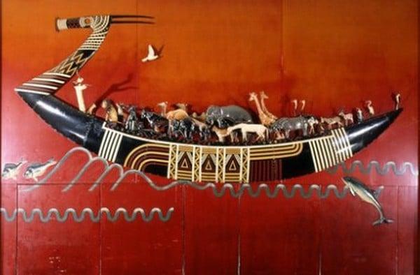 L'Arche de Noé, chef-d'oeuvre  de l'artiste dinandier Jean Dunand.