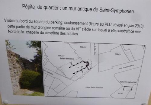Monuments peu connus de Bretagne : un mur du VIe siècle place Saint-Similien à Nantes