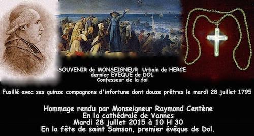 Vannes. Monseigneur de Hercé, victime de la Révolution, célébré le 28 juillet