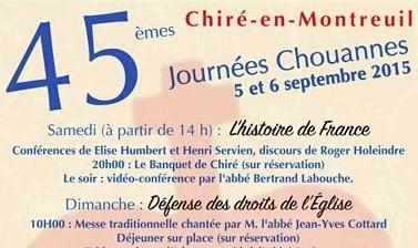 Chiré en Montreuil (86) . Journées chouannes les 5 et 6 septembre