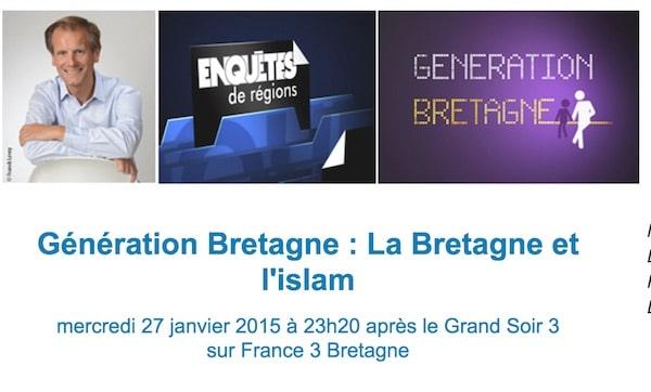 La Bretagne et l'Islam, mercredi 27 janvier prochain, sur France 3 : un débat qui s'annonce orienté