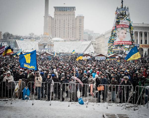 Demonstration in Kiev against Ukraine's rejection of the EU agre
