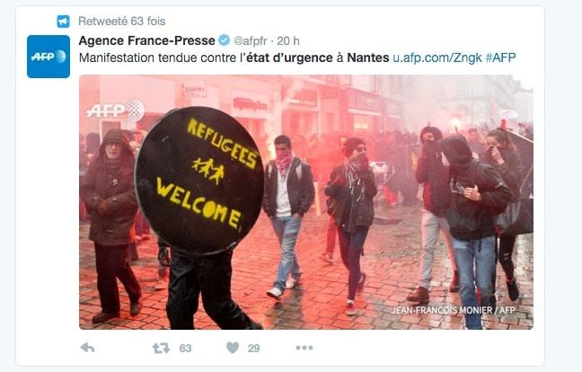 Manifestation à Nantes. L'État laisse l'extrême-gauche détériorer le centre-ville