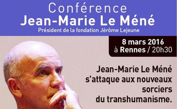 Rennes. Jean-Marie Le Méné en conférence sur le transhumanisme, le mardi 8 mars 2016