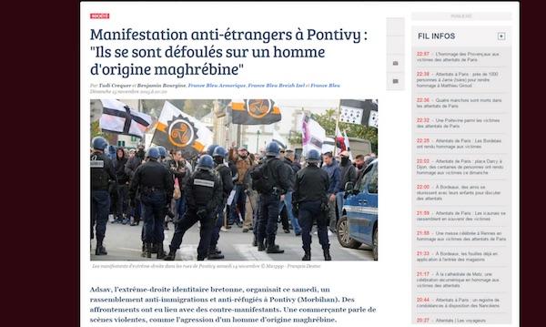 Pontivy. L'agression raciste inventée par France Bleu nominée aux Bobards d'Or