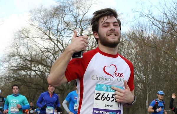 Rennes. Brieuc a couru le semi-marathon de Paris pour les chrétiens d'Orient