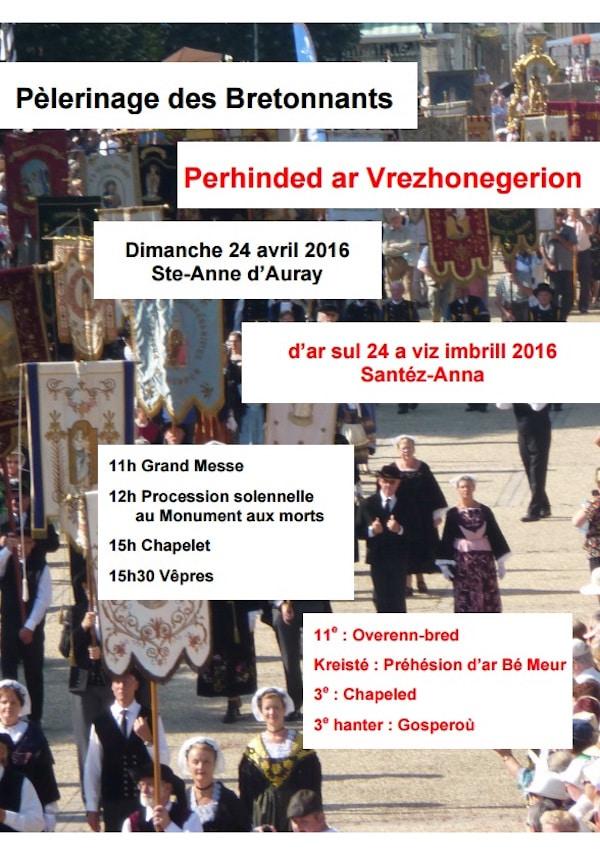 affiche pèlerinage des bretonnants