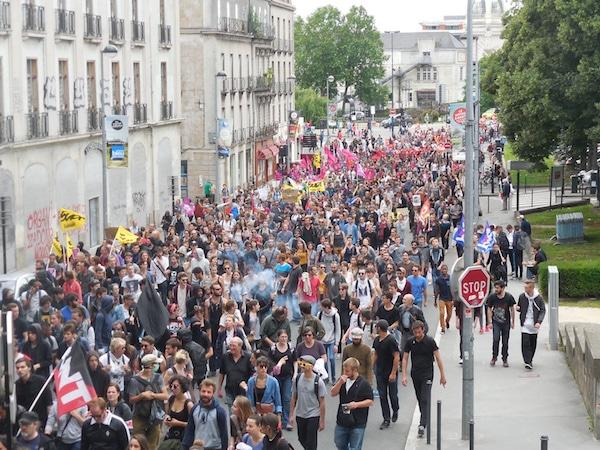 Loi Travail : manifestation dans le calme à Nantes, pas à Rennes
