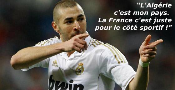 Karim Benzema a-t-il oublié les onze joueurs noirs sélectionnés en  équipe de France ?