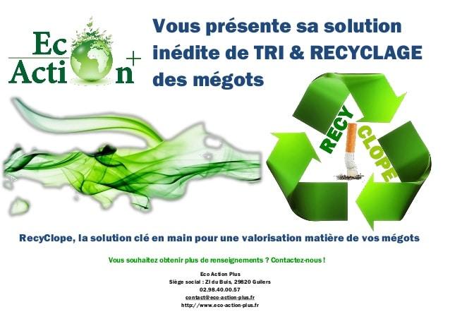 brest recyclope eco action plus veut recyler les m gots de cigarette. Black Bedroom Furniture Sets. Home Design Ideas