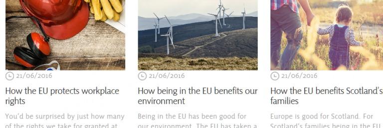 Référendum sur le Brexit : les nationalistes écossais sans rancune envers l'Europe