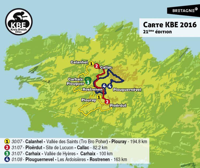 Cyclisme. Kreiz Breizh Elites, du 30 juillet au 1er août 2016