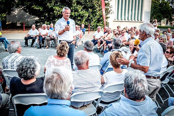 Le Pouliguen. Bruno Le Maire (LR) en visite ce vendredi 19 août.