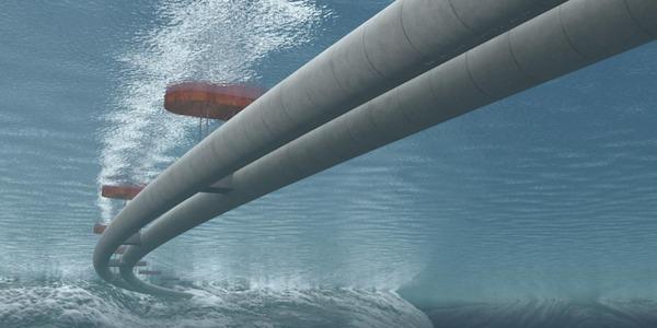 Norvège. Un tunnel sous marin flottant