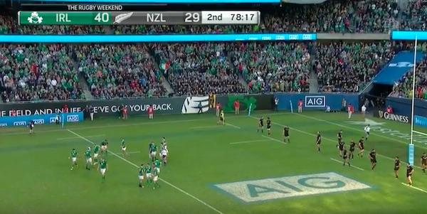 Victoire historique de l'Irlande contre les All Blacks (40-29)