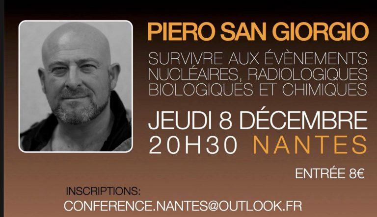 Nantes. Piero san Giorgio (NRBC) en conférence le 8 décembre