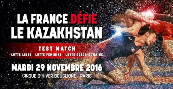 Lutte. La France défiera le Kazakhstan le 29 novembre à Paris