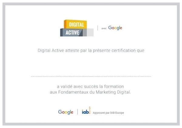 Digital active : la formation gratuite et certifiante de Google pour lancer son entreprise