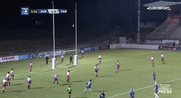 Le Rugby Club de Vannes passe à côté de l'exploit face à Aurillac (24-22)