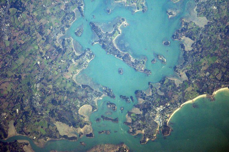 Le golfe du Morbihan vu de l'espace par l'astronaute Thomas Pesquet