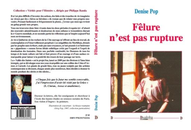 Fêlure n'est pas rupture, un livre de Denise Pop [interview]