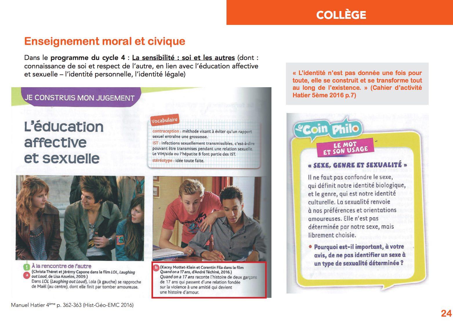 Voici quelques exemples ci-dessous que l'on retrouve dans la brochure diffusée :