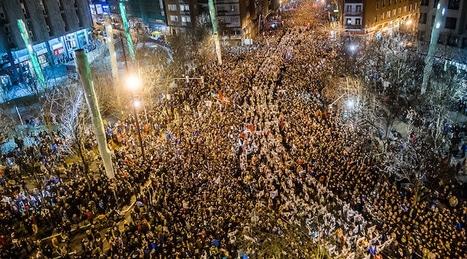 Bilbao (Pays Basque). 80 000 basques défilent en soutien aux prisonniers politiques d'ETA